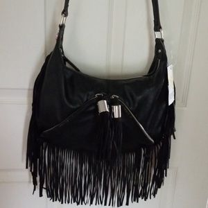 Kathy van zeeland fringe crossbody purse